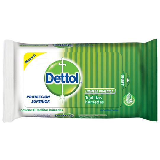 Toallitas Húmedas para Manos Dettol (10 x 10 UD)