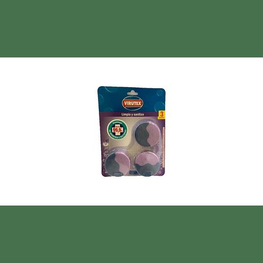 Pastillas Desinfectantes para Inodoro Aroma Lavanda Virutex (6 x 3 UD)