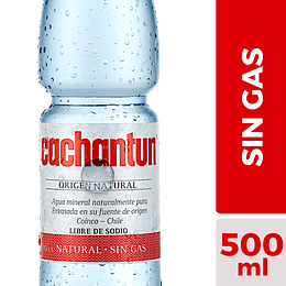 Agua Mineral sin Gas Cachantun (12 x 500 ML)