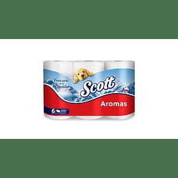 Papel Higiénico Scott Aromas 48 rollos (8 x 6 rollos)