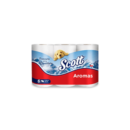 Papel Higiénico Scott Aromas (8 x 6 rollos)