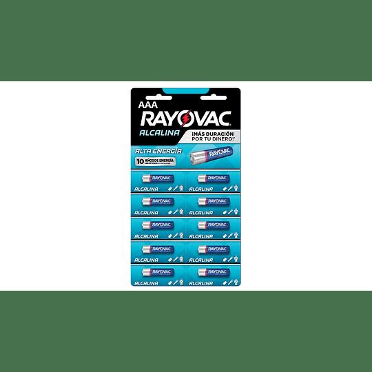 Pilas Alcalinas Rayovac AAA 10 UD
