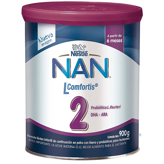 Leche NAN 2 Lcomfortis 900 GR (6-12 meses)