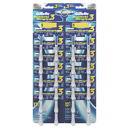Máquinas Afeitar Gillette Prestobarba Ultragrip 3 (24 UD)