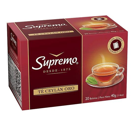 Té Supremo Oro (12 x 20 Bolsitas)
