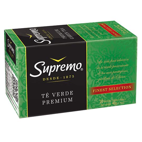 Té Supremo Premium Verde (12 x 20 Bolsitas)