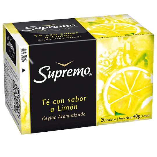 Té Supremo Ceylan Limón (12 x 20 Bolsitas)