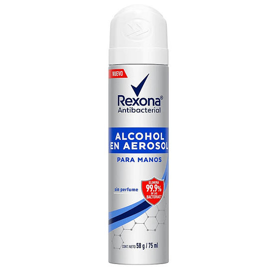 Alcohol en Aerosol Rexona Antibacterial (6 x 75 ML)