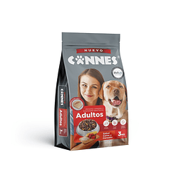 Alimento Perro Adulto Carne y Cereal Cannes (3 x 3 KG)