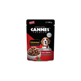 Alimento Húmedo Perro Adulto Pouch Carne Cannes (12 x 100 GR)