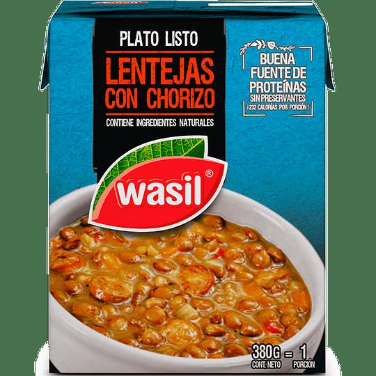 Lentejas con Chorizo Wasil (4 x 380 GR)