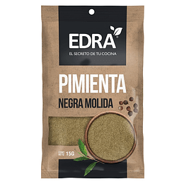 Pimienta Negra Molida Edra (25 x 15 GR)