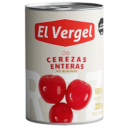 Cerezas Enteras El Vergel (6 x 580 GR)