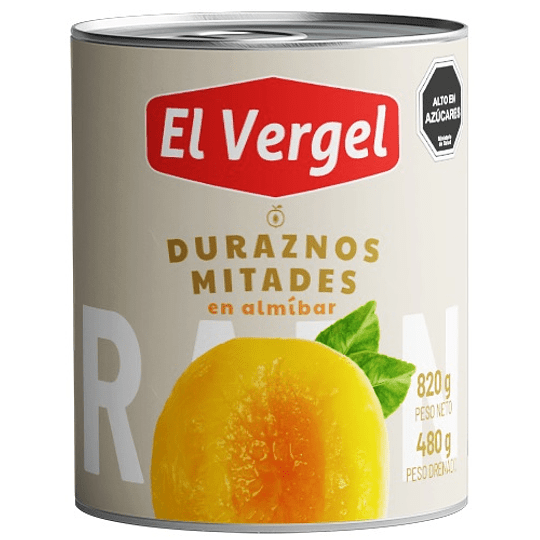 Duraznos El Vergel (6 x 820 GR)