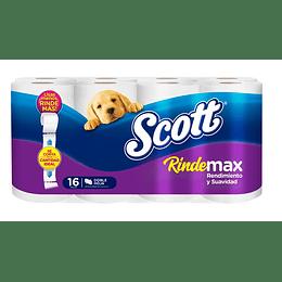 Papel Higiénico Scott Rindemax (3 x 16 rollos)