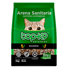 Arena Sanitaria para Gatos Topk9 Ecomix (5 x 2 KG)
