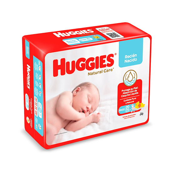 Pañal Huggies Recién Nacido (4 x 20UD)