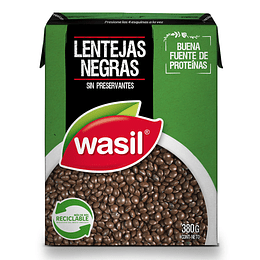 Lentejas Negras Wasil (4 x 380 GR)