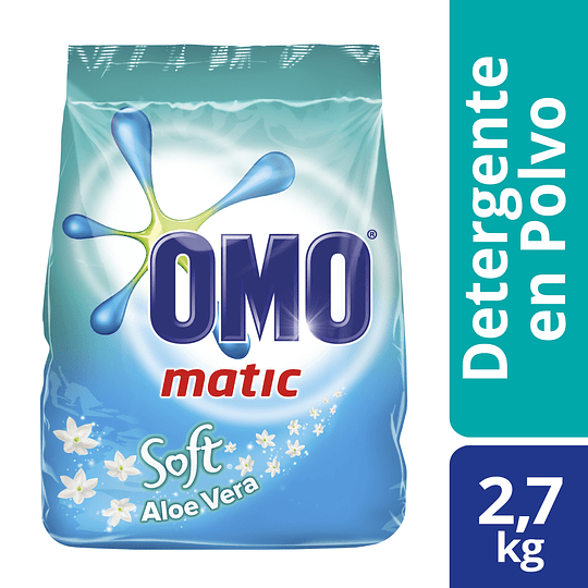 Detergente en Polvo Omo Matic Soft Aloe Vera (3 x 2.7 KG)
