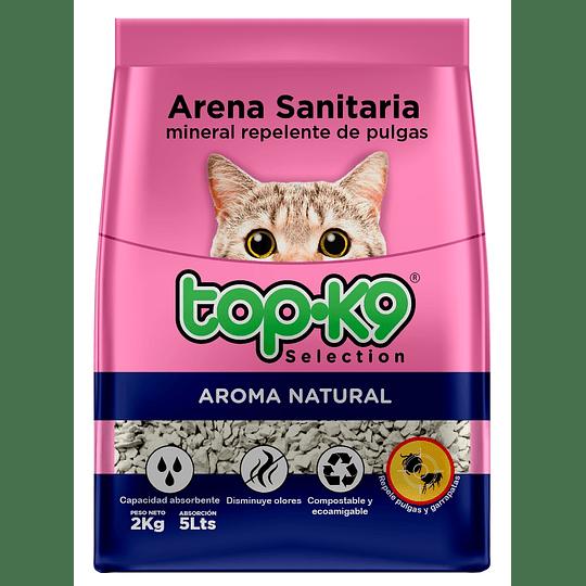 Arena Sanitaria para Gatos Topk9 Mineral (5 x 2 KG)