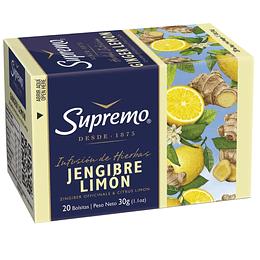 Infusión Jengibre Limón Supremo (25 x 20 bolsitas)