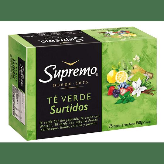 Té Supremo Verde Surtido (5 x 75 Bolsitas)