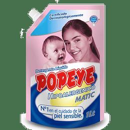 Detergente Líquido Hipoalergénico Doypack Popeye (3 x 1 LT)