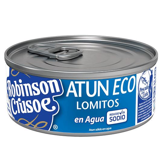 Atún Eco Lomitos Reducido en Sodio y Pescado con Caña Robinson Crusoe (12 x 160 GR)