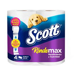 Papel Higiénico Scott Rindemax 48 rollos (12 x 4 rollos)
