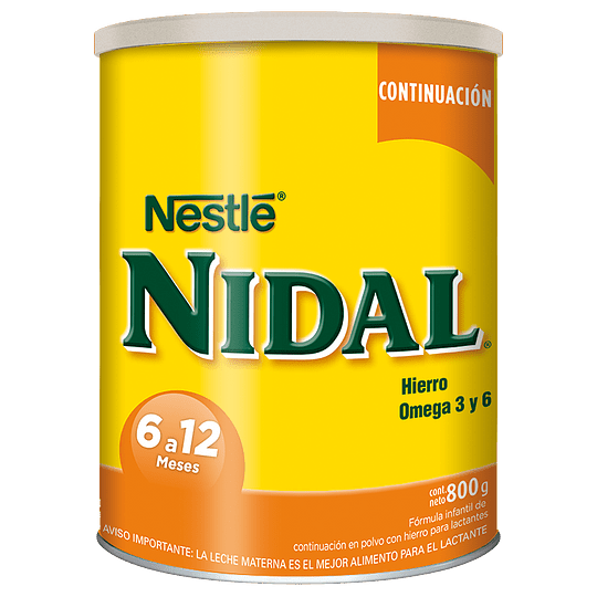 Leche Nidal Continuación 800 GR (6 - 12 meses)
