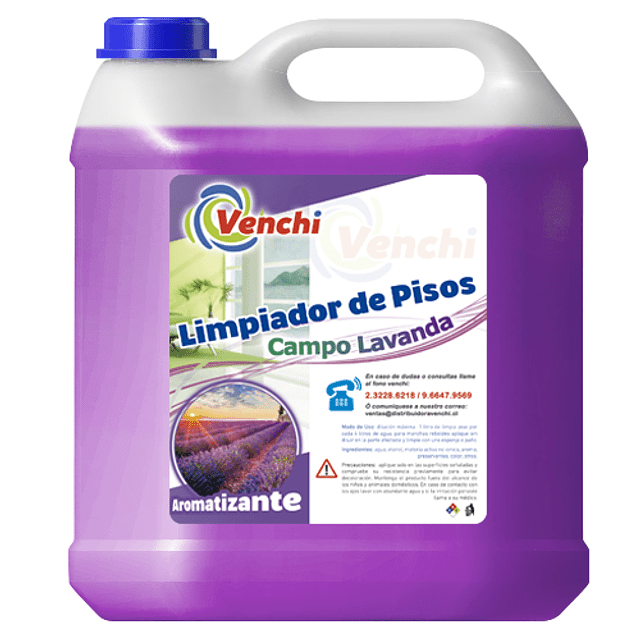 Limpia Pisos Lavanda 5 Litros