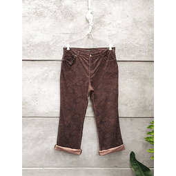 Mom cotelé marron diseños JONES talla 44