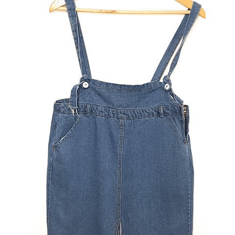Falda de mezclilla midi con tirantes TALLA M