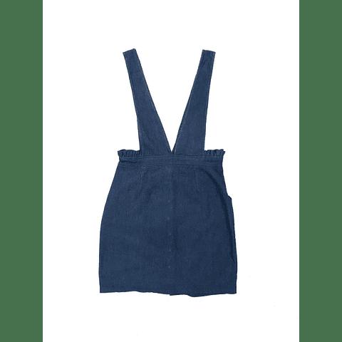 Falda jardinera azul talla 36