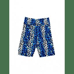 Biker animal print azul de lycra