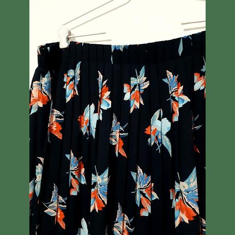 Falda midi azul marino AVA VIV talla 2XL-3XL