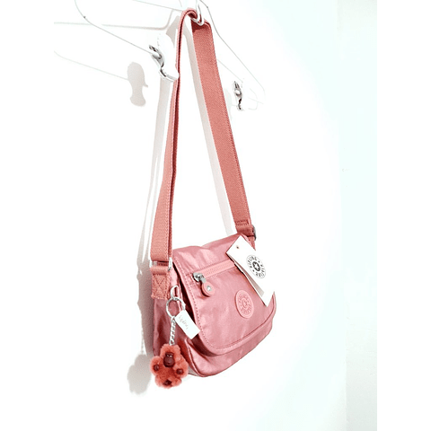 Cartera crossbody KIPLING SABIAN FLOURISHING PINK METALLIC