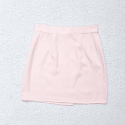 Falda vintage rosa pastel WRAPPER talla 34