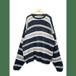 Sweater vintage DAVID TAYLOR beige y grafito