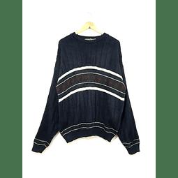 Sweater vintage DAVID TAYLOR azul marino