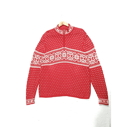 Sweater vintage RED NORDIC