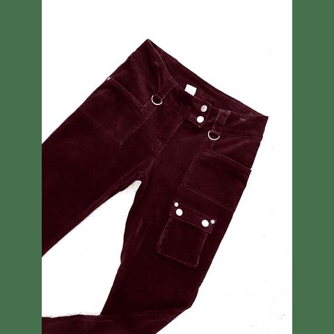 Pants cotele burdeo ELLEMENO talla 38