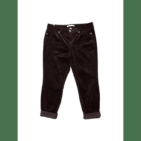 Pants cotele marron LAUREN C talla 44