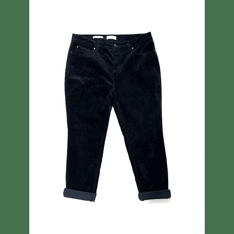 Pants velvet negro CHARTER CLUB talla 40-42