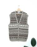 Sweater VEST vintage COUNTRY THEME de lana estilo COOGI