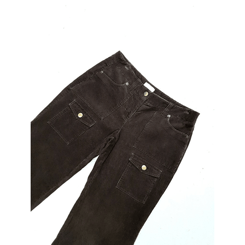 Pants cotele vintage Y2K LOFT marron talla 36