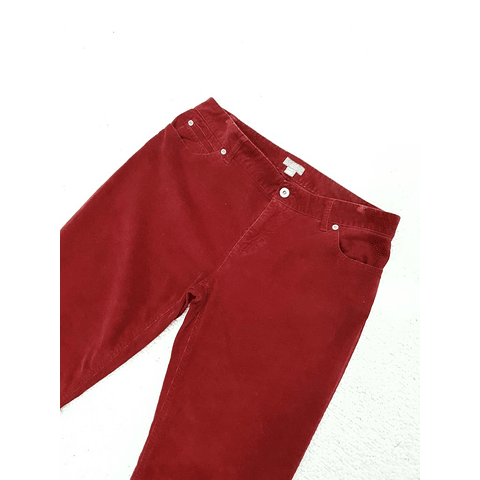 Pants cotele vintage JJ HILL rojo talla 38-40