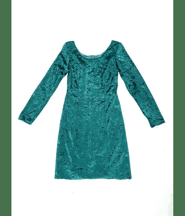 Vestido VELVET VERDE TALLA 32 XXS