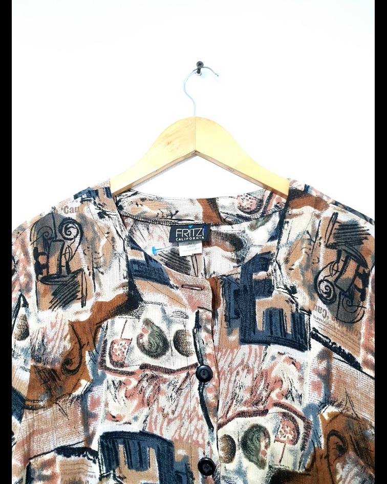 Blusa vintage FRITZI talla L
