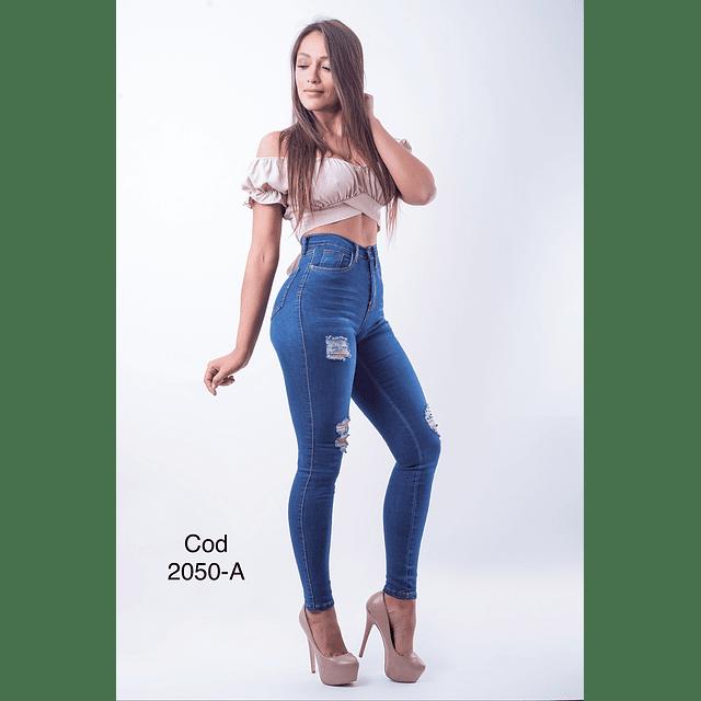 Jeans pitillo cod 2050-A